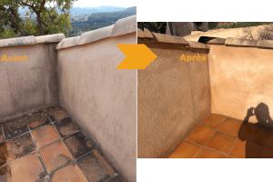 Le nettoyage haute pression des murets et terrasses